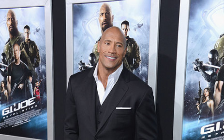 "Dwayne ""The Rock"" Johnson arrives at the Premiere of ""G.I. Joe: Retaliation"" at TCL Chinese Theatre on 28 March 2013. Picture: AFP"