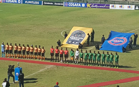 Zambia and South Africa lineup for the national anthems ahead of the Cosafa Women's Championship final match at the Wolfson Stadium in Port Elizabeth on 11 August 2019. Picture: @Banyana_Banyana/Twitter