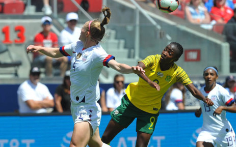 Banyana Banayan in action against the USA on 12 May 2019. Picture: @Banyana_Banyana/Twitter