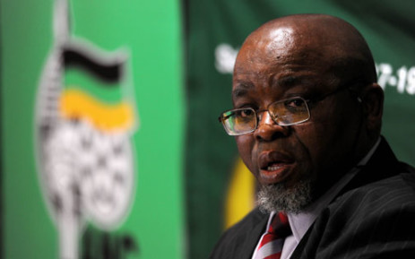 ANC secretary general Gwede Mantashe fields questions from the media in Johannesburg on Monday, 21 May 2012 following the party's National Executive Committee meeting at the weekend. Picture: SAPA