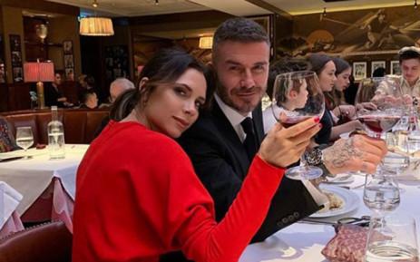 Victoria and David Beckham. Picture: @victoriabeckham/Twitter