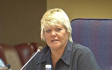 A screengrab of former prosecutor Glynnis Breytenbach testifying at the Mokgoro inquiry. Picture: YouTube