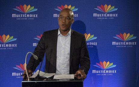 Calvo Mawela, CEO of Multichoice SA, details the findings into the company's relationship with ANN7 at a press briefing on 31 January 2018. Picture: Ihsaan Haffejee/EWN
