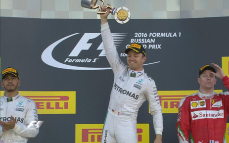 Formula One championship leader Nico Rosberg chalked up his seventh win in a row at the Russian Grand Prix on 01 May 2016. Picture: Formula 1 @F1