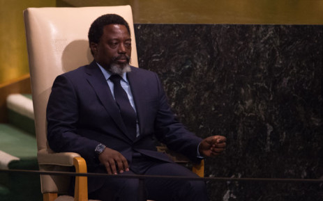 Democratic Republic of Congo President Joseph Kabila Kabangewaits to address the 72nd Session of the United Nations General assembly at the UN headquarters in New York on September 23, 2017. Picture: AFP.