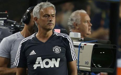 Manchester United coach Jose Mourinho. Picture: @ManUtd/Twitter