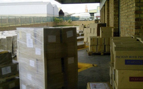 Textbooks found in a warehouse in Limpopo. Picture: Sapa.