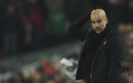 FILE: Manchester City's Spanish manager Pep Guardiola reacts on the touchline during the English Premier League football match between Liverpool and Manchester City at Anfield in Liverpool, north west England on 14 January, 2018. Picture: AFP.