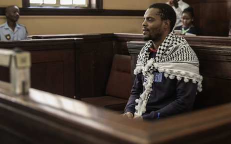 FILE: Mcebo Dlamini at the Johannesburg magistrates court for his bail application on 18 October 2016. Picture: AFP.