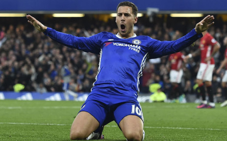 Chelsea forward Eden Hazard celebrates a goal. Picture: AFP