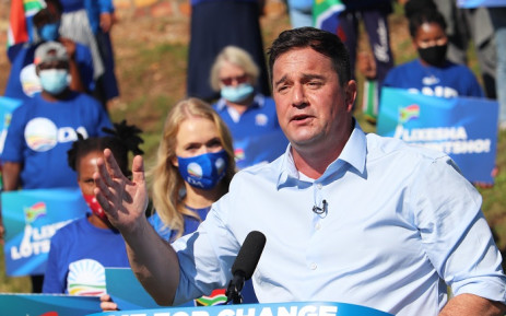 Democratic Alliance (DA) Leader John Steenhuisen addresses supporters at the party's virtual rally on 22 May, 2021. Picture: DA.