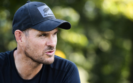 Former All Blacks lock player Norm Maxwell talks to children during the 'All Blacks clinic' event in Milan on 30 August 2019. Picture: AFP.