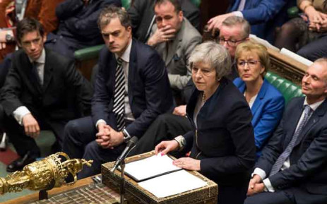 Britain PM Theresa May addresses lawmakers in parliament. Picture: @ukparliament/Facebook.com