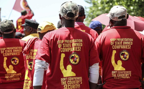 Numsa marched to the Public Enterprises Ministry in Pretoria to demand government to save Denel. Picture: Abigail Javier/EWN