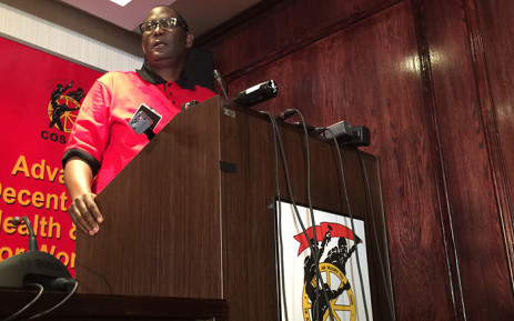 Congress of South African Trade Union (Cosatu) General-Secretary Zwelinzima Vavi during a press conference about his future in the trade union federation on 29 March, 2015. Picture: Reinart Toerien/EWN