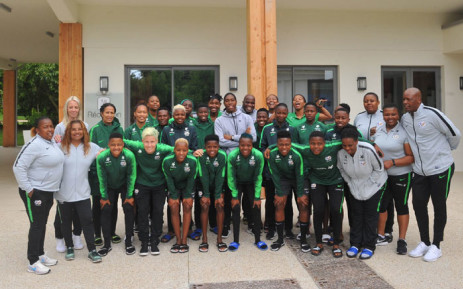 South African Olympic champion Caster Semenya with Banyana Banyana in France on 12 June 2019. Picture: @Banyana_Banyana/Twitter