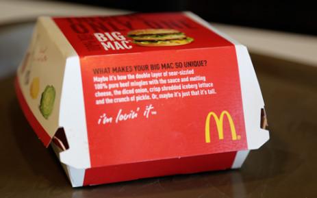 FILE: A McDonald's burger. Picture: EWN