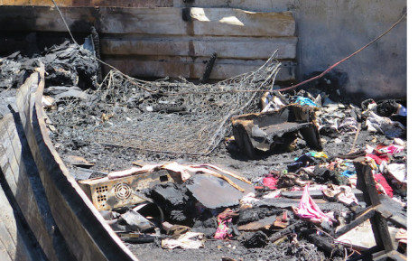 FILE: The aftermath of a shack fire. Picture: EWN.