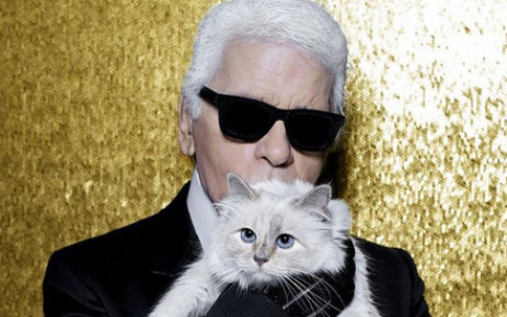 Karl Lagerfeld with his beloved cat Choupette. Picture: Instagram/@choupettesdiary