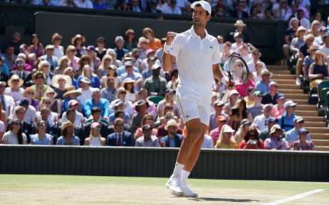 FILE: Novak Djokovic celebrates a point during his Wimbledon final match against Kevin Anderson on 15 July 2018. Picture: @Wimbledon/Twitter