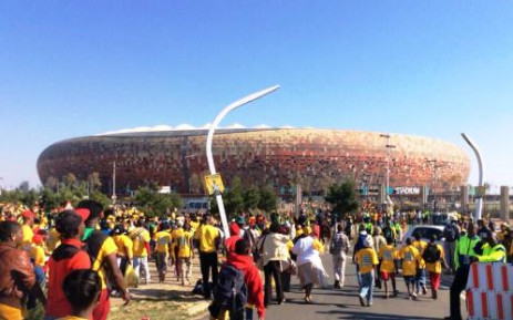 ANC supporters head towards the FNB Stadium in Johannesburg for the ruling party's Siyanqoba rally on 4 May 2014. Picture: ANC/Twitter.