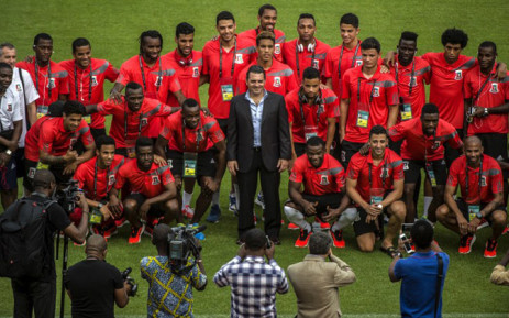 FILE: Equatorial Guinea's national team poses for a picture during a visit of the Bata stadium in Bata, Equatorial Guinea, on January 16. Picture: AFP.