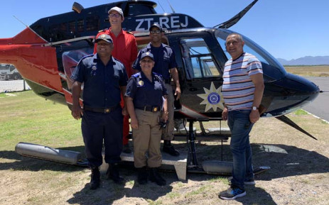 The City of Cape Town bolstered its resources this festive season to ensure the safety of beachgoers by using a helicopter to conduct patrols at various beaches. Picture: Kaylynn Palm/EWN