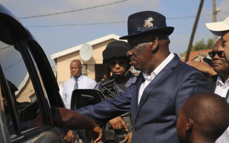 FILE: Police Minister Bheki Cele engages with a community member in Browns Farm near Nyanga. Picture: Cindy Archillies/EWN.