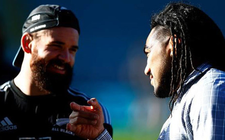 All Black cenres Ma'a Nonu and Ryan Crotty exchange prespectives at practice. Picture: Facebook.