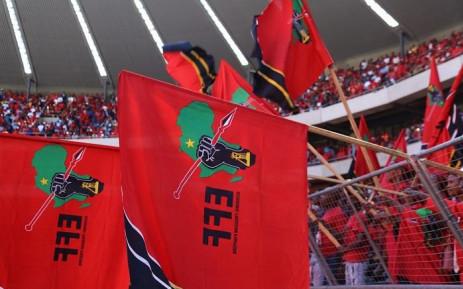 EFF Flags. Picture: Kayleen Morgan/EWN