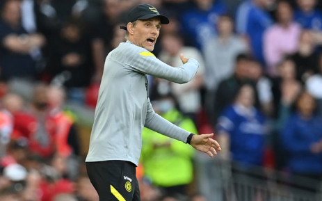 Chelsea's head coach Thomas Tuchel gestures on the touchline during the English Premier League football match between Liverpool and Chelsea at Anfield in Liverpool, north west England on 28 August 2021. Picture: Paul Ellis/AFP