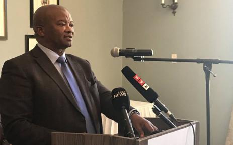 United Democratic Movement leader Bantu Holomisa speaking at the Cape Town Press Club on 5 February 2019. Picture: Lindsay Dentlinger/EWN