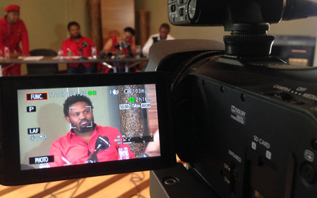 FILE: Suspended EFF MP Andile Mngxitama addresses media during a press conference. Picture: Vumani Mkhize/EWN.