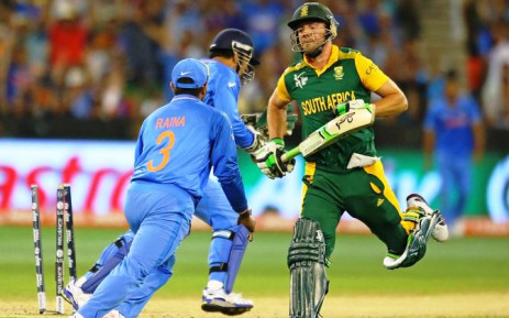 AB de Villiers during the Proteas's World Cup match against India on 22 February 2015. Picture: Twitter via @cricketworldcup.