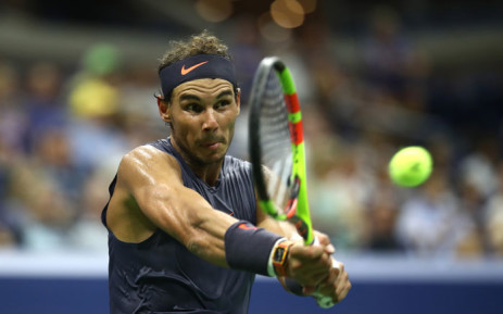Rafael Nadal in action at the US Open on 30 August 2018. Picture: AFP