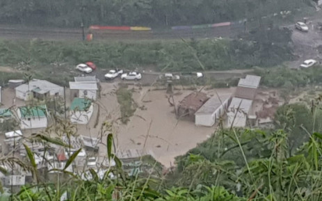 Port St Johns after flooding hit after heavy rain in the area on 22 April 2019. Picture: @BantuHolomisa/Twitter