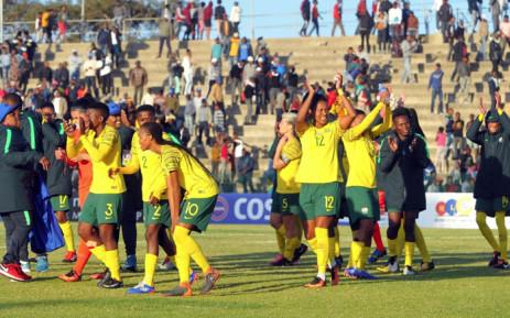 Banyana Banyana celebrate reaching Cosafa Women's Championship finals after beating Uganda. Picture: @Banyana_Banyana/Twitter.