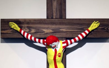 Sculpture depicting 'McJesus' sparks outrage in some Israeli Christians