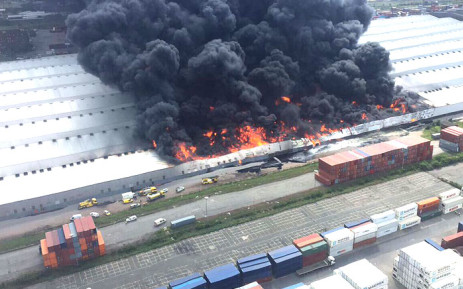 Durban warehouse blaze contained