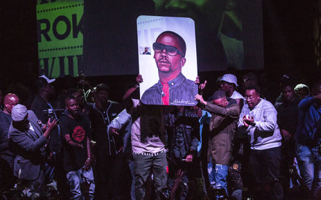 South African artists on stage at ProKid's memorial service held in Newtown on 16 August 2018. Picture Sethembiso Zulu/EWN.