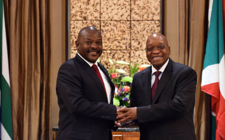 Burundi's President Pierre Nkurunziza meets President Jacob Zuma at Tuynhuys in Cape Town on 4 November 2014. Picture: GCIS.