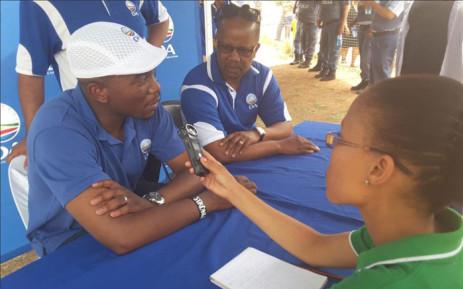 DA leader Mmusi Maimane and DA Northen Cape Premier candidate Andrew Louw. Picture: @DA_NCape/Twitter