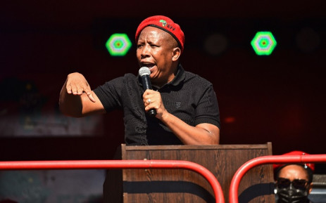 EFF leader Julius Malema was speaking at the EFF June 16 commemoration outside the Uitsig High School in Centurion. Picture: @EFFSouthAfrica/Twitter.