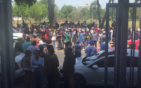 FILE: Supporters of UCT student activist Masixole Mlandu gather outside Wynberg Magistrates Court. Picture: Monique Mortlock/EWN.
