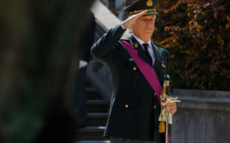 FILE: King Philippe of Belgium attends during a ceremony to commemorate the 75th anniversary of the end of World War II in Europe, at the Tomb of the Unknown Soldier monument in Brussels, on 8 May 2020. Picture: AFP
