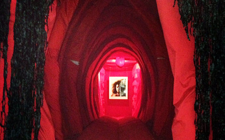 The walk-in vagina erected by artist Reshma Chhiba at the Women's Jail at Constitutional Hill in Braamfontein. Picture: Masego Rahlaga/EWN