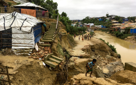 Monsoon-triggered landslides in Rohingya refugee camps in Bangladesh have killed one person and left more than 4,500 homeless, said officials said on July 7. Picture: AFP.