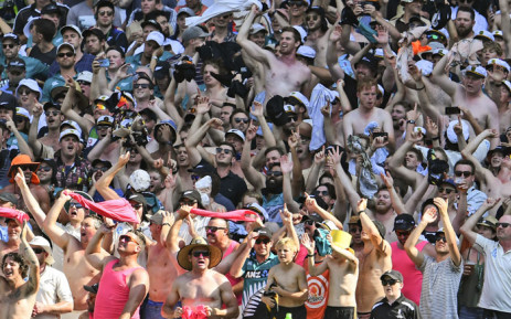 New Zealand fans cheer on their team as New Zealand loses to Australia on the fourth day of the second cricket Test match at the MCG in Melbourne on 29 December 2019. Picture: AFP.