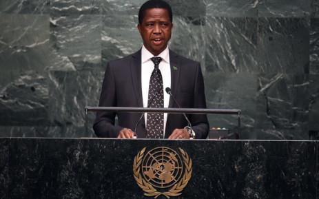 FILE: Zambian President Edgar Chagwa Lungu. Picture: AFP