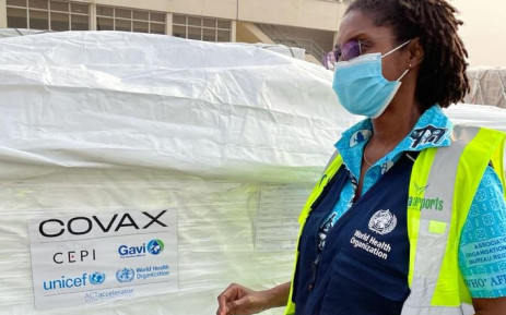 Ghana received 600,000 doses of the Oxford/AstraZeneca vaccine as part of the global Covax scheme on 24 February 2021. Picture: WHO